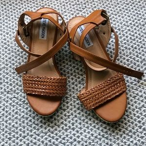 Steve Madden brown Wedge Sandal Heels